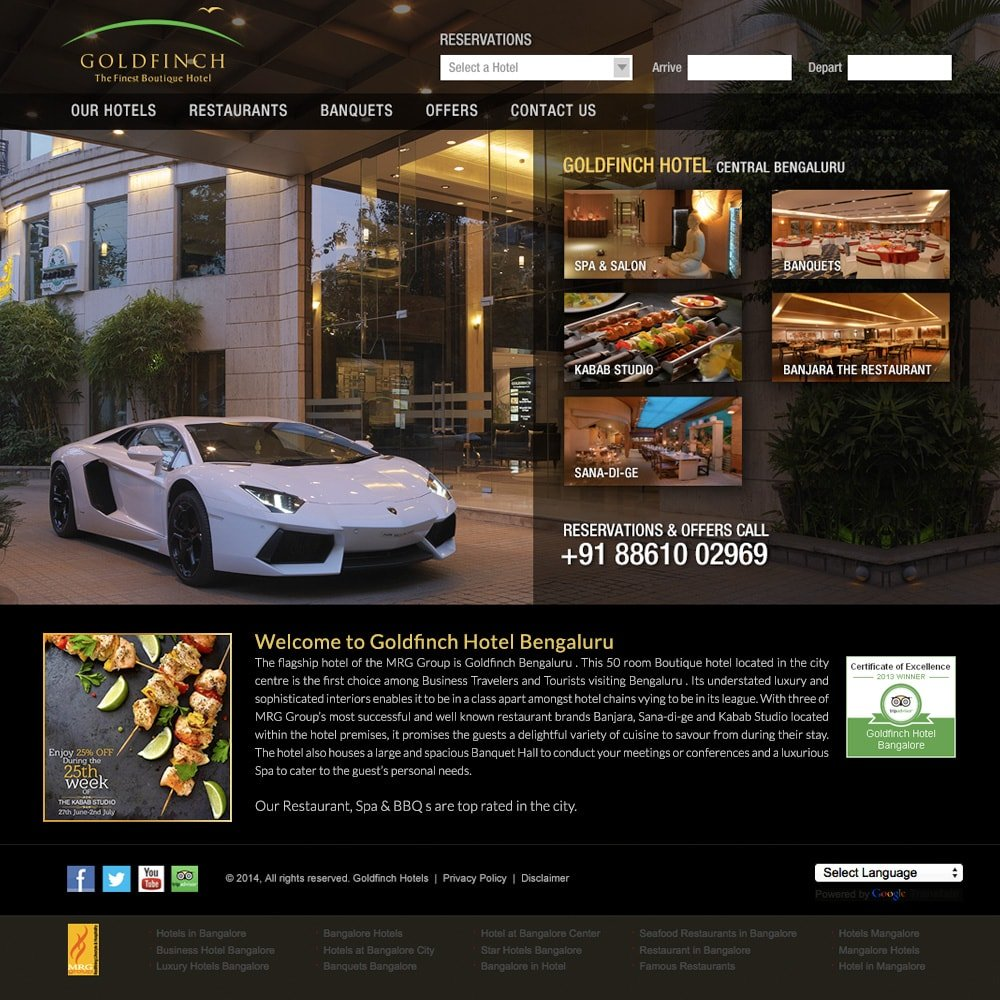 Web design and website maintenance right turn e design for Hotel booking design